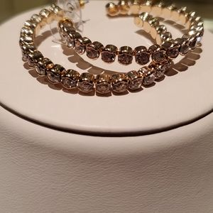 💝 Gold and crystal hoops
